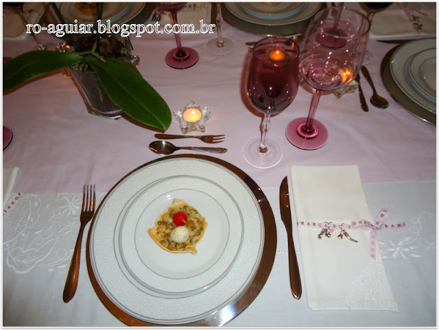 mesa decorada para reveillon