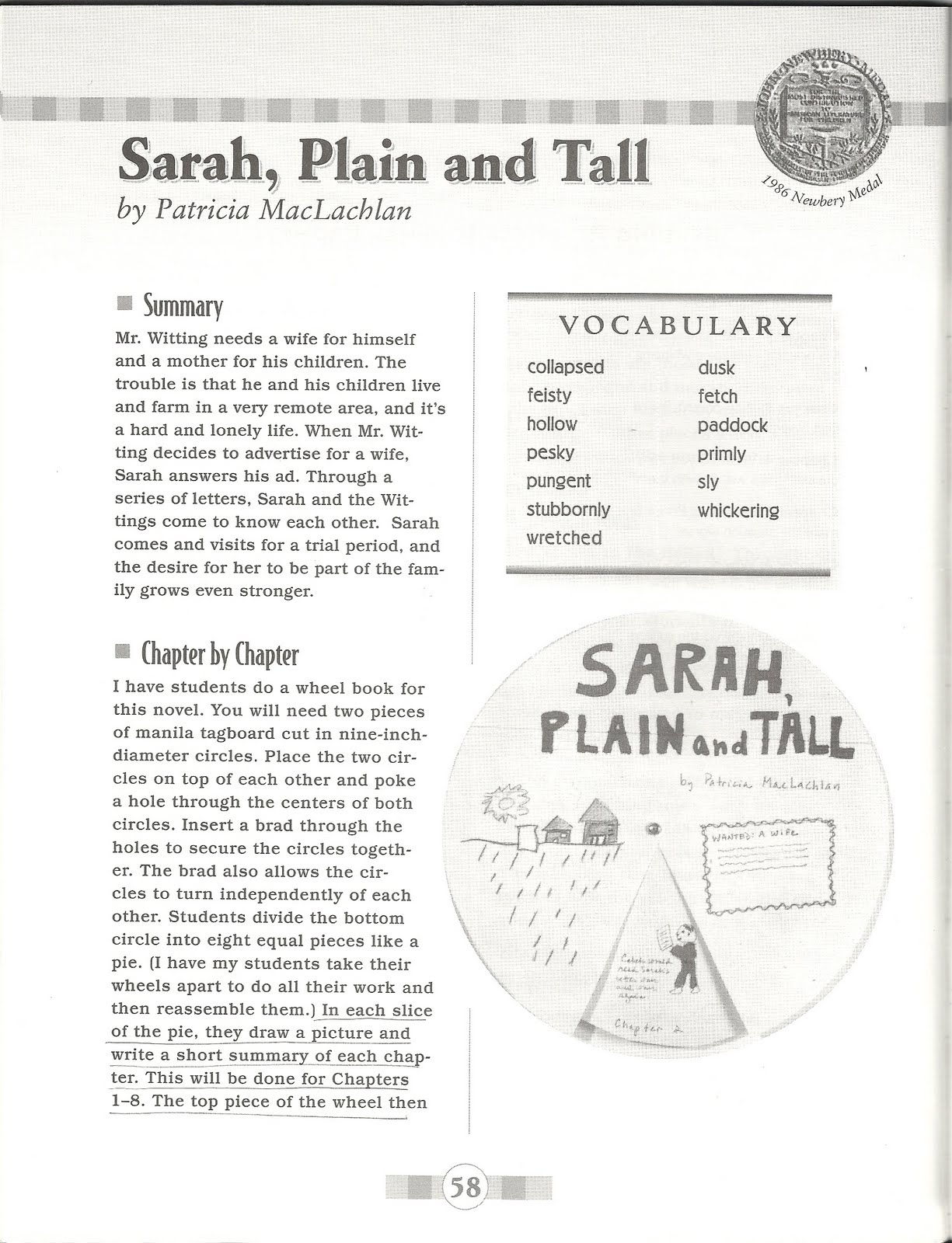 homemaker 39 s journal book review sarah plain and tall. Black Bedroom Furniture Sets. Home Design Ideas