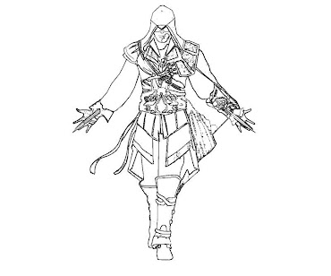 #7 Assassin's Creed Coloring Page