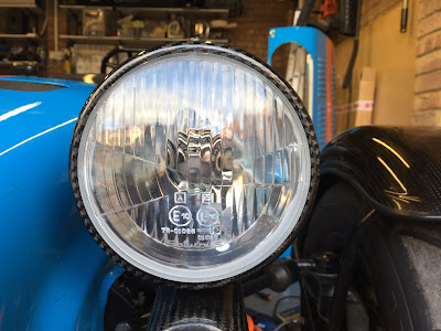 New glass fitted to Caterham Carbon front Headlights
