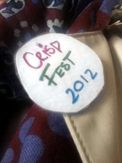 Stitch and Bear - Crisp Fest 2012 - A badge of pride at Crisp Fest 2012