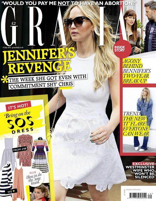 Actress @ Jennifer Lawrence - Grazia UK, July 2015