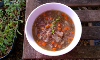 Slow Cooker Vegan Autumn Lentil Soup from Healthy Slow Cooking found on SlowCookerFromScratch.com