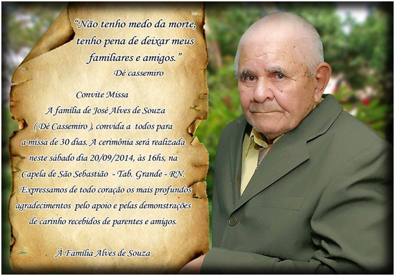 Homenagem de missa 7 dia de falecimento - Todas Mensagens