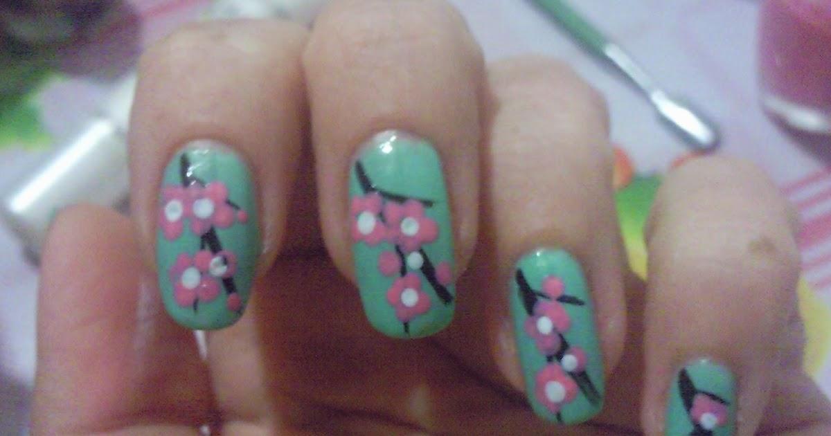 Фото рисунков на ногтях сакура