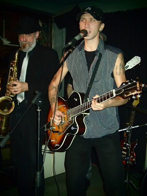 Matt Rock and Pat the sax man
