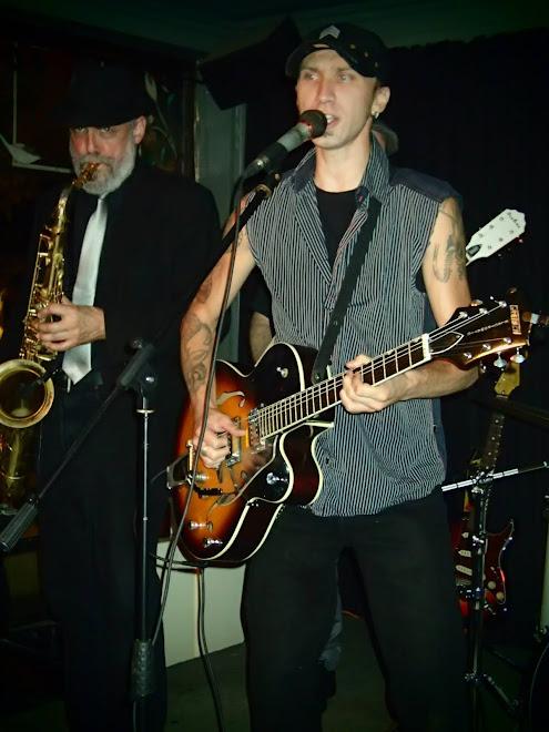 Matt Rock and Pat the sax man