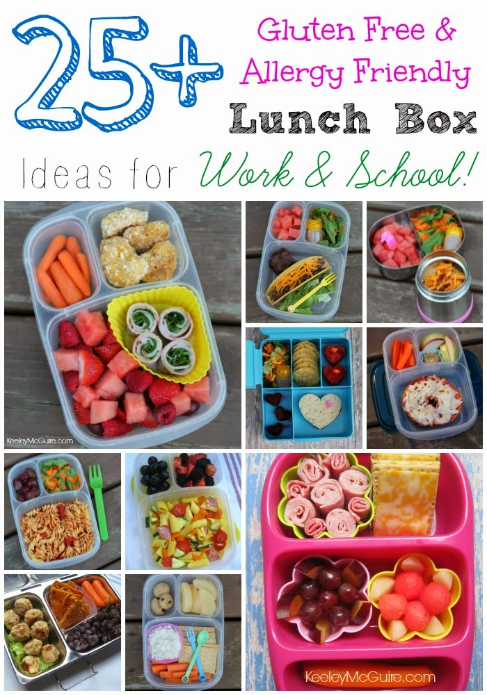 Gluten free allergy friendly lunch made easy over 25 gluten free again these are just 25 ideas that hadnt made it to the blog yet if youre new to keeleymcguire our site is packed full of gluten free and allergy forumfinder Choice Image