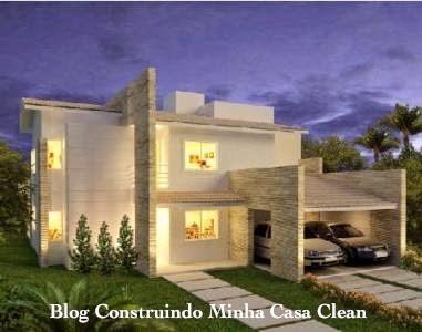 Construindo minha casa clean fachadas de casas modernas com p rtico - Casa con portico ...