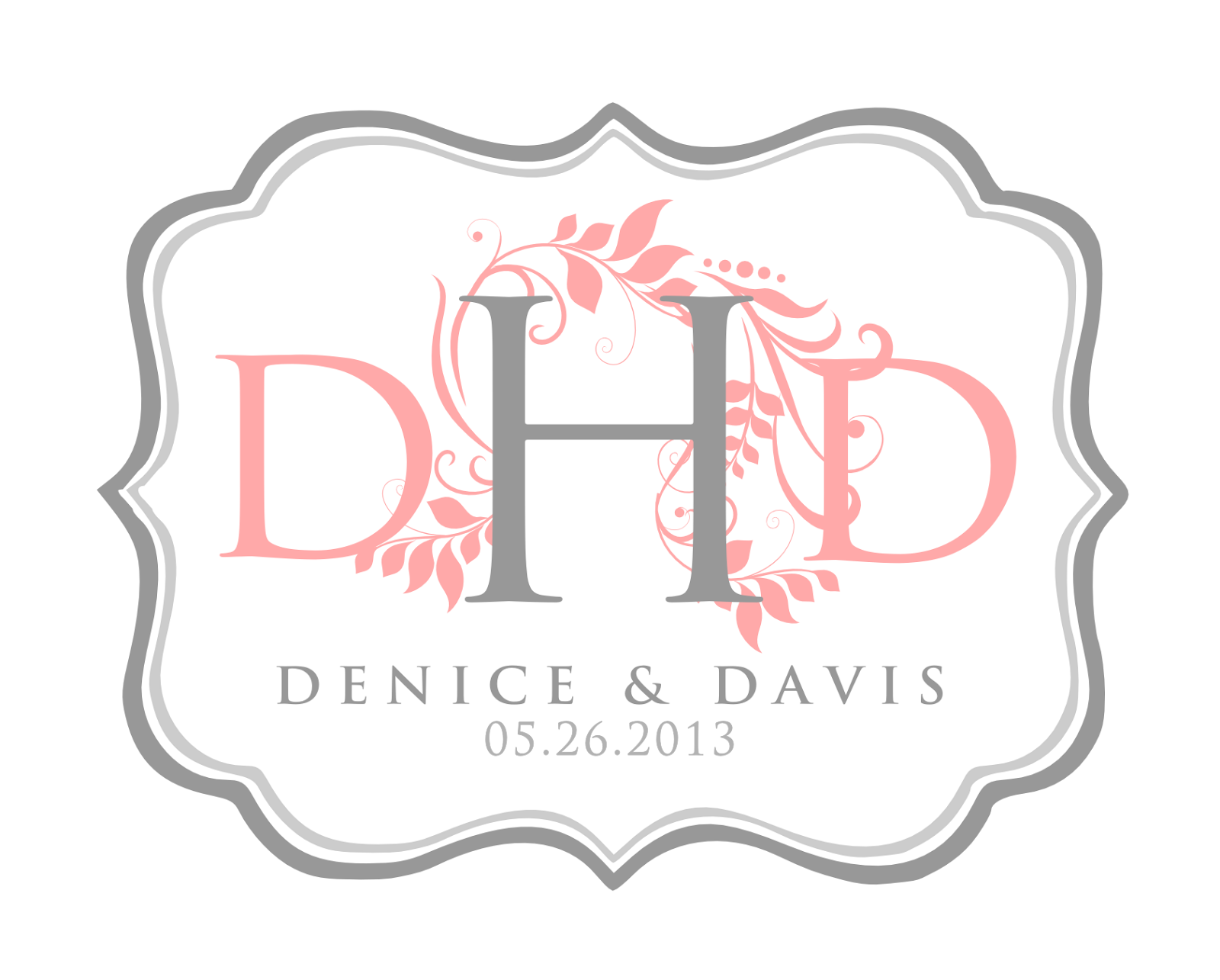 Signatures by sarah wedding stationery for denice for Monogram template free printable