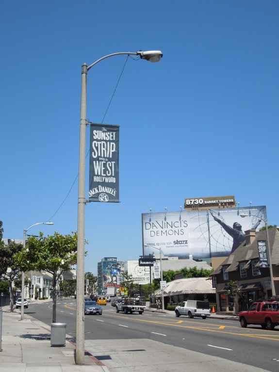 Sunset Strip Jack Daniels banner