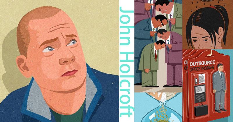 ポップなイラストに風刺的なメッセージを込めたJohn Holcroftのイラスト