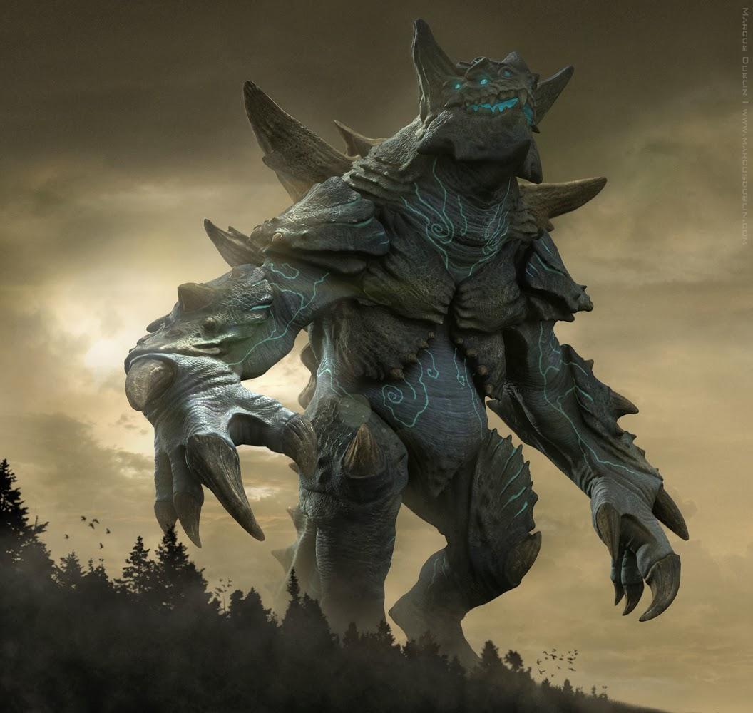Kaiju Battle: Kaiju Titanus By 3-D Artist Marcus Dublin