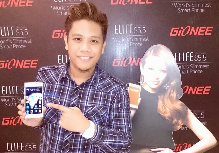 Gionee Elife S5.5 Launch in Philippines, Mark Milan Macanas