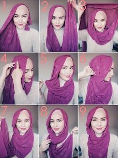 Tutorial Hijab Pashmina Cantik