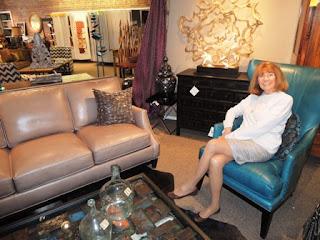turquoise, leather, chair, sofa, Bradington Young