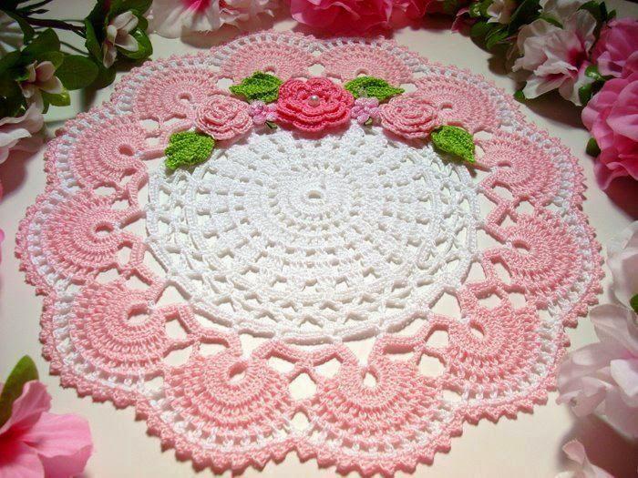 Www Croche : Toalha de mesa de croche com gr?fico:PaP Como fazer