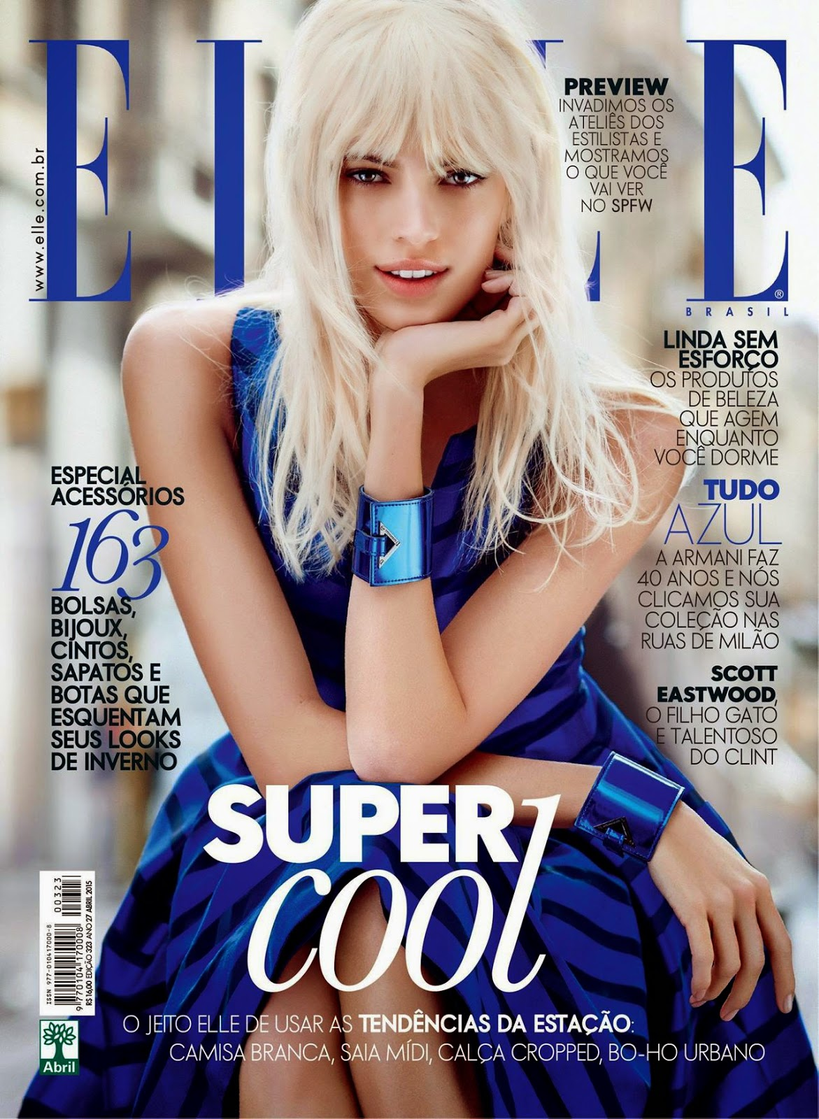 Fashion Model @ Devon Windsor by Nicole Heiniger for Elle Brazil, April 2015