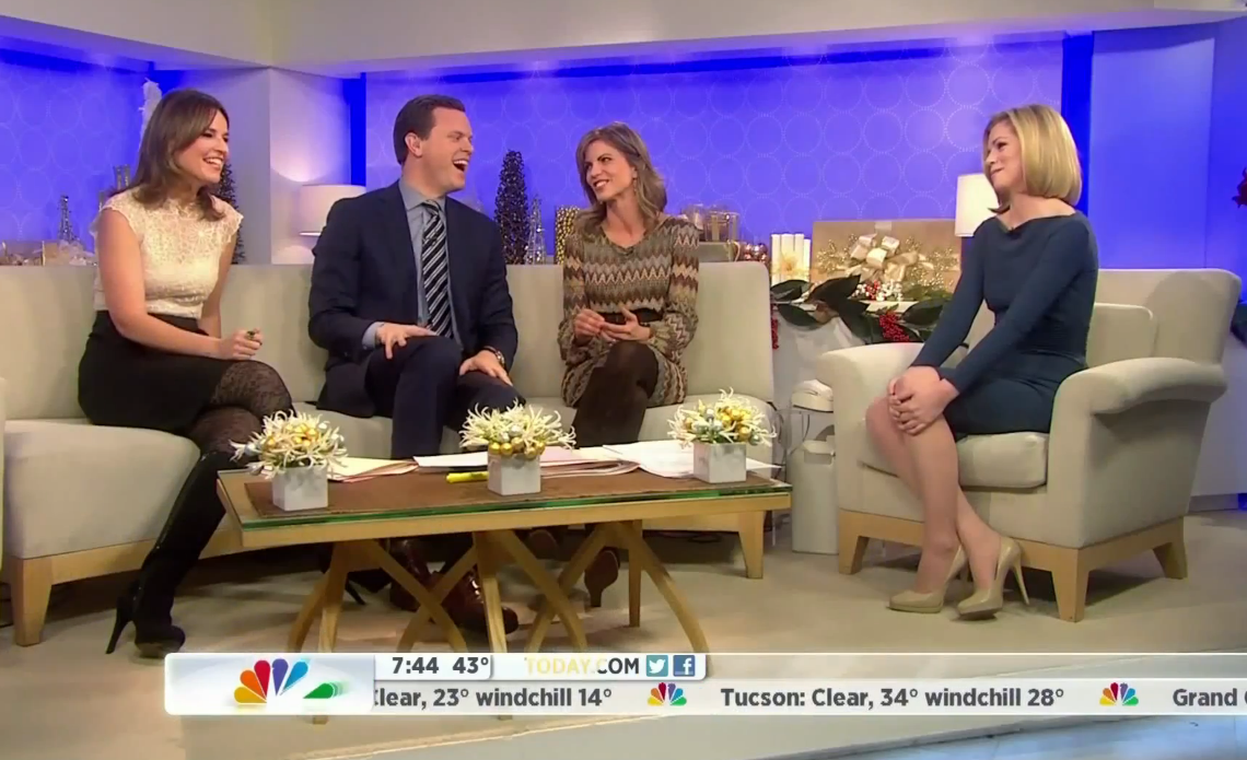 Dylan dreyer modeling quot sweater tights quot the today show november 9
