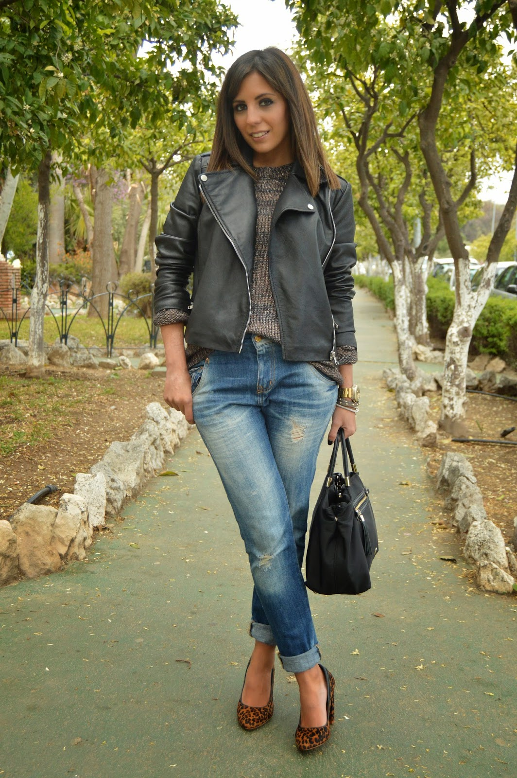 street style cristina style mango zara fashion blogger malagueña blogger malagueña outfit look chic casual jeans tweed inspiration moda mood tendencias ootd fashion
