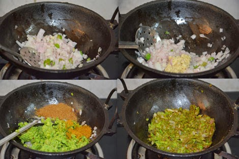 peas paratha stuffing preparation