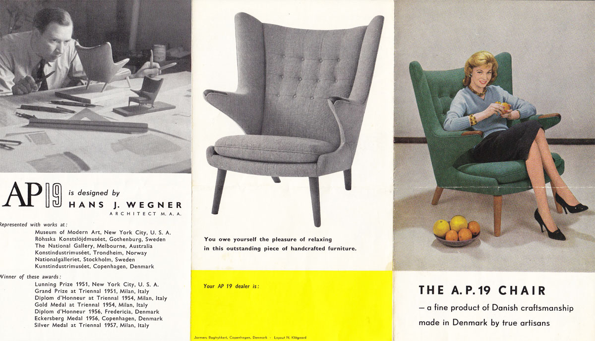 classic design Vintage Papa Bear chair Brochure