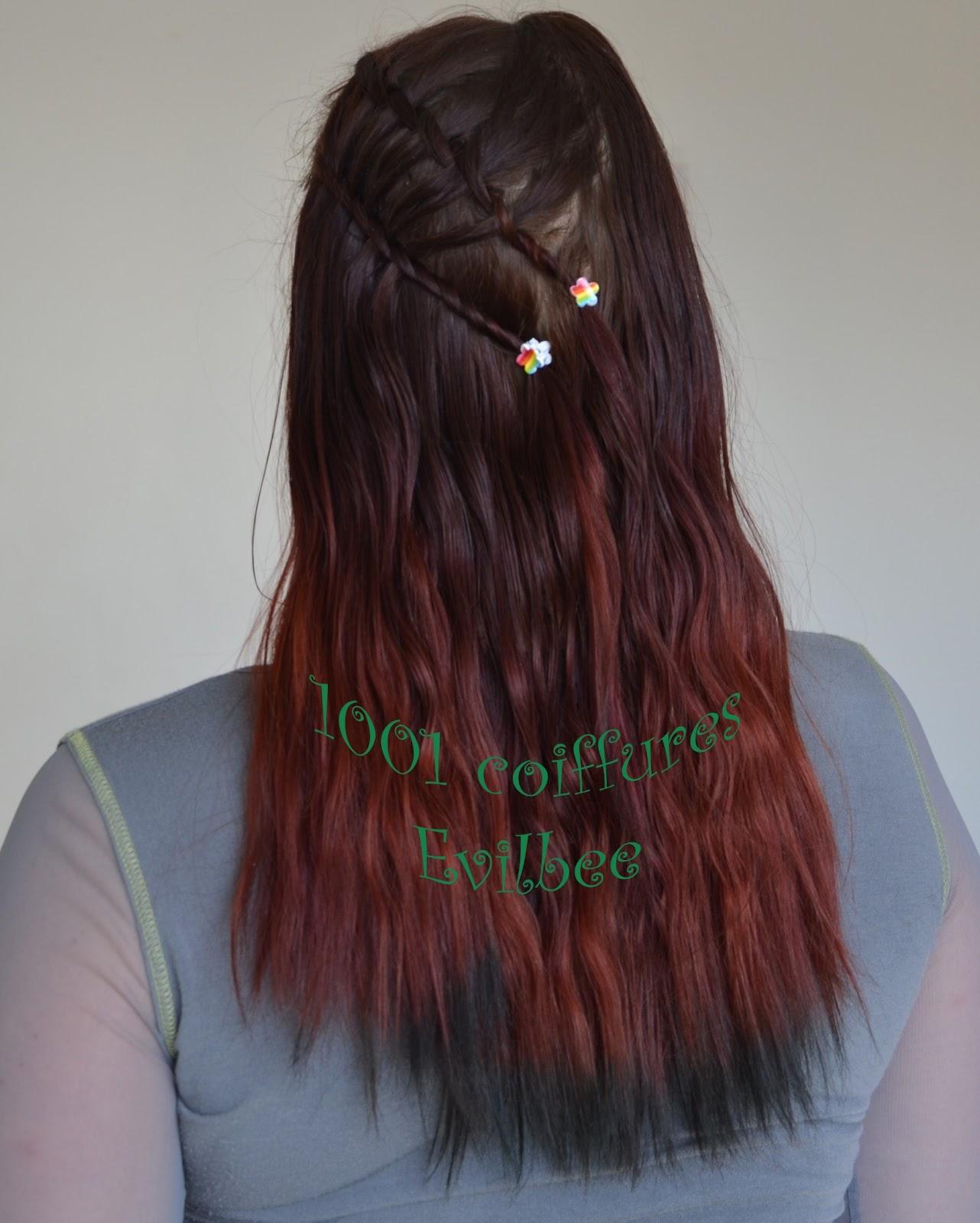 1001 coiffures tuto 2 waterfall braids 2 brins tresse en cascade - Tresse en cascade ...