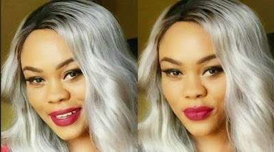 Daniella Okeke Rocks and Dazzles In Grey Hair