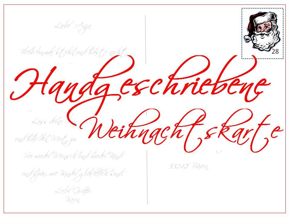 Haus nr 28 weihnachtskartenwichteln - Weihnachtskarte per mail ...