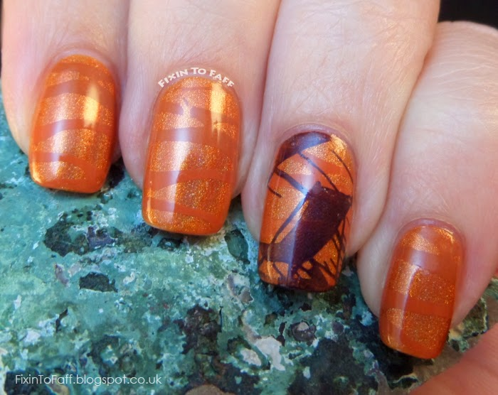 Texas Sunset nail art