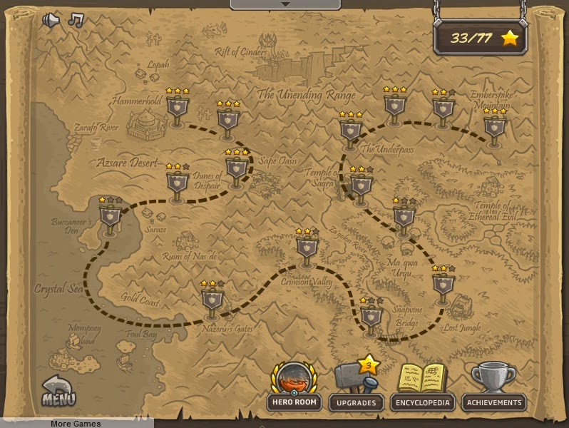 Kingdom Rush Frontiers map