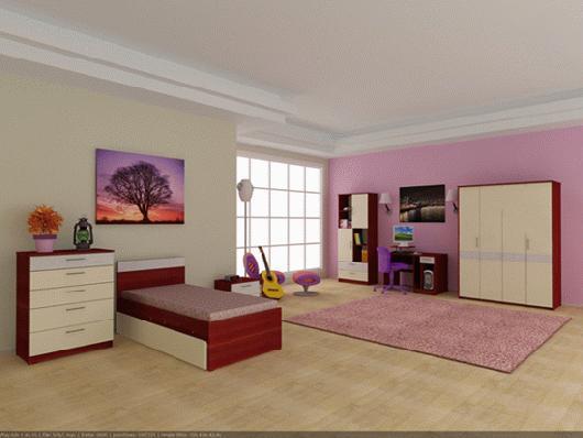 sade+genc+odasi+takimi Yeni Tasarım Genç Odası Modelleri