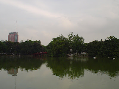 Pagoda, Hanoi lake bridge