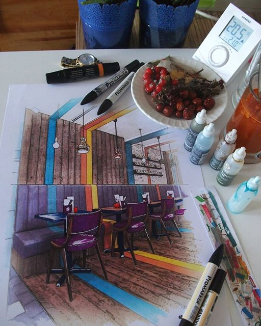 02-Ayşe-Bakır-Versatility-in-Eclectic-Colored-Drawings-www-designstack-co