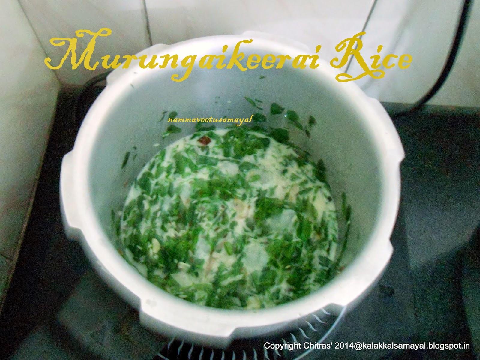 Murungai keerai Rice