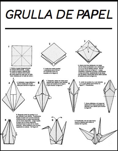feria de ciencias 2012 nuestro deseo On como hacer una grulla de papel