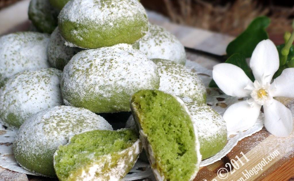 Just My Ordinary Kitchen...: GREEN TEA MELTING MOMENTS