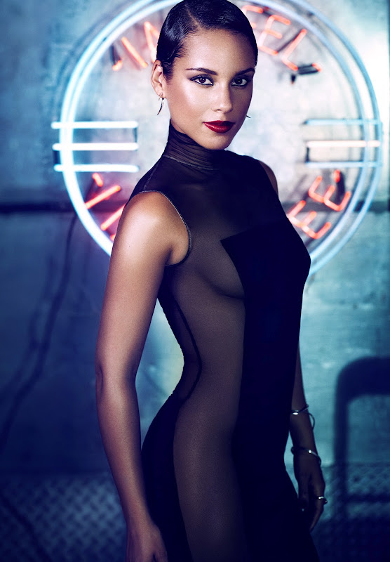 Alicia Keys promo image from her new album 'Girl On Fire'