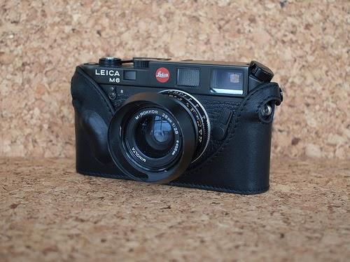 Mr. Zhou Black Leather Half Case for Leica M3 M2 M4 M6 M7 MP without ASA cutout