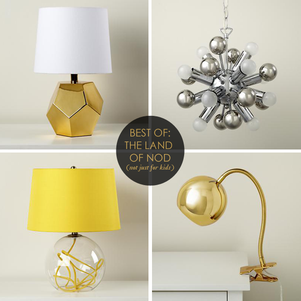 land of nod, desk lamps