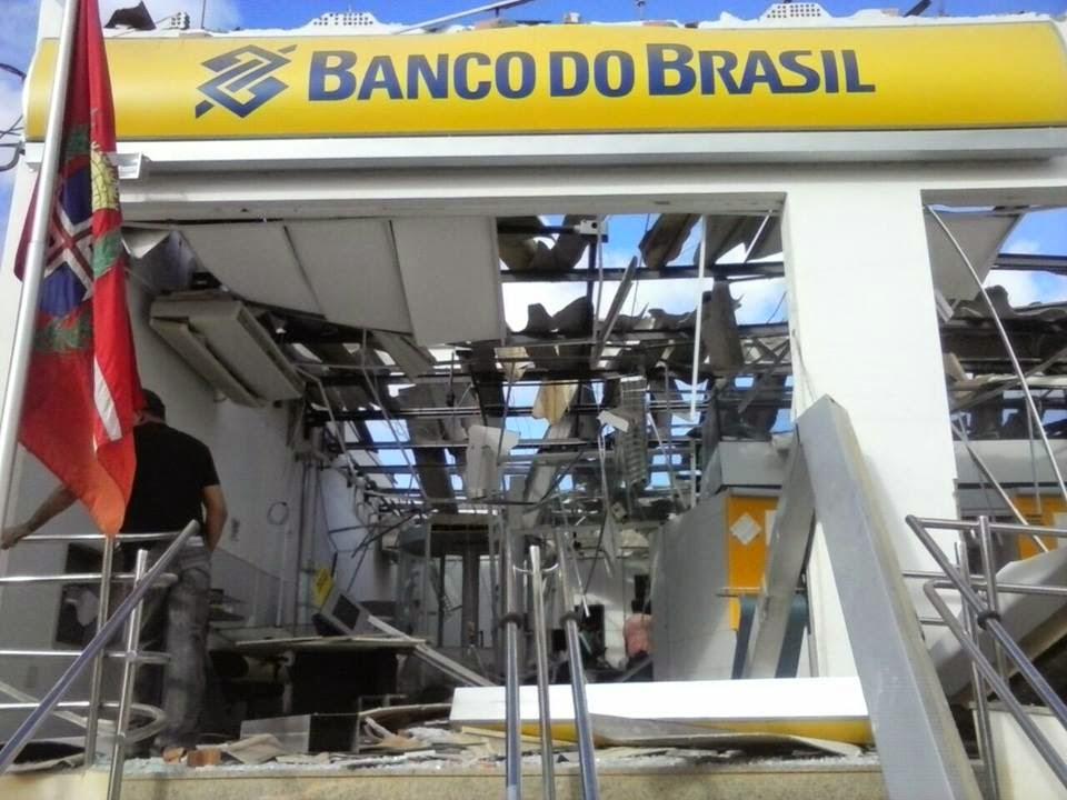 Agência do Banco do Brasil de Utinga foi explodida nessa madrugada!