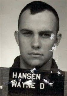 Wayne Hansen, now 62, as a young convict
