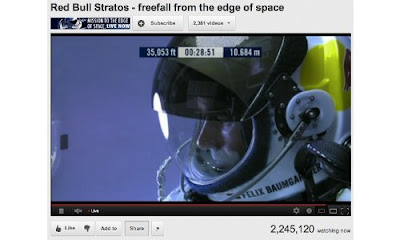 felix baumd=gartner,lompatan supersonik,lompatan tertinggi,rekor lompatan tertinggi,video felix baumgarner,video lompatan tertinggi