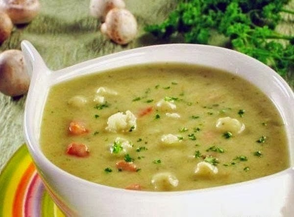 суп-пюре с цветной капустой и курицей