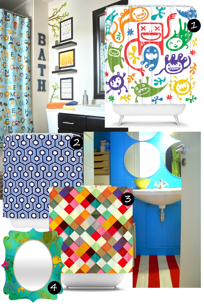 Check Out These Great Products To Brighten Up Your Boys Bathroom Shop The Look 1 Misfits Shower Curtain