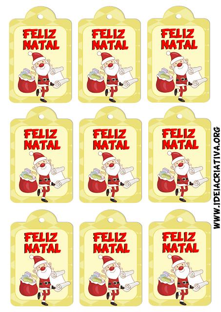Etiquetas natalinas Papai Noel