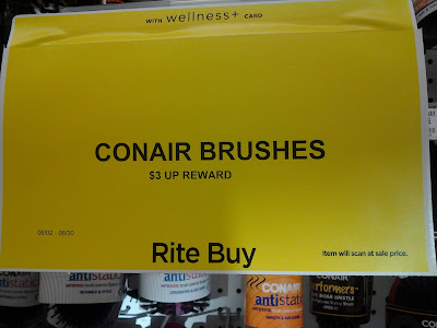 Conair Brush Rite Buy $3 UP