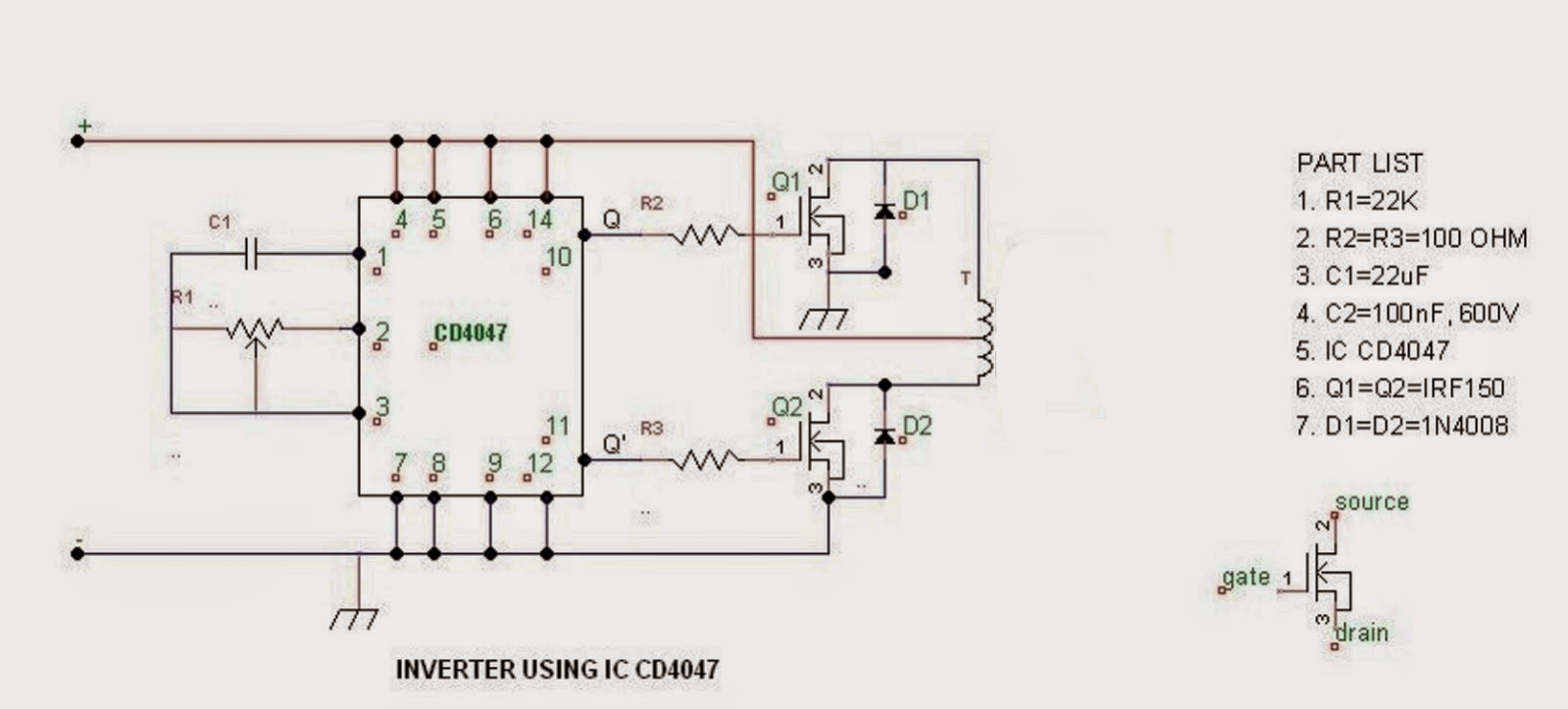 Making A Flynn Motor Circuit Diagram Attached Search Gain Control Amplifier Amplifiercircuit To The Positive While Ends Of Coils Wires Are Connected With Mosfet Drain Rpm Can Be Controlled Aid Shown Pot