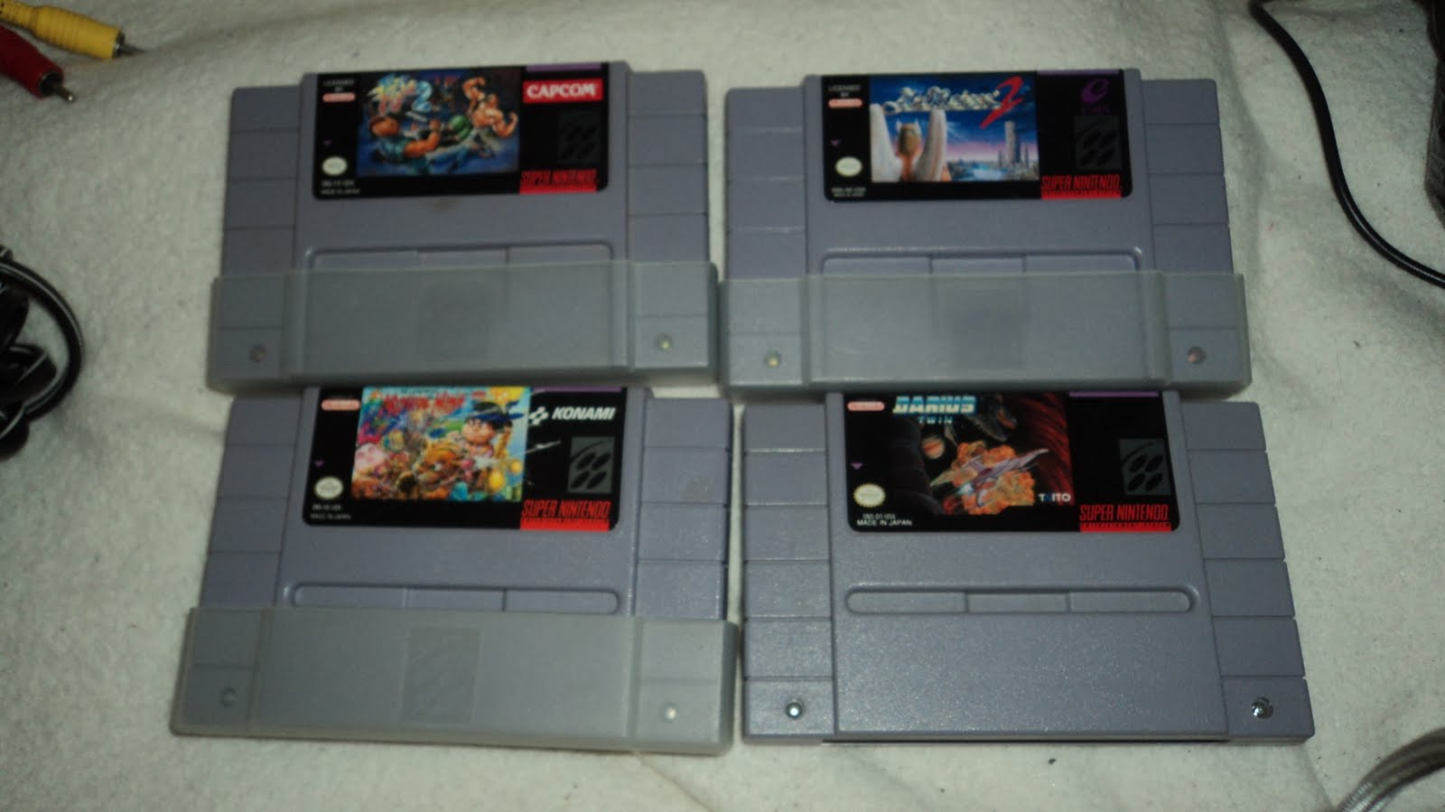 Picked up these snes games for 1 95 each the games are final fight