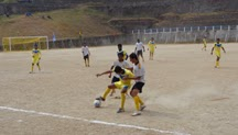 A scene from one of the two matches played on Friday.